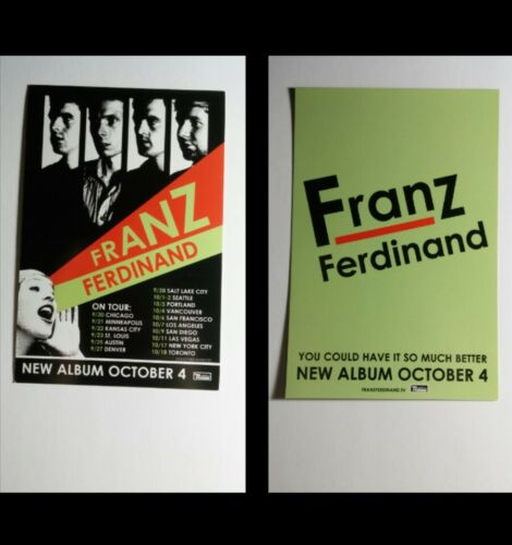 FRANZ FERDINAND YOU COULD HAVE IT SO MUCH BETTER MUSIC 4X6 POSTCARD SM POSTER