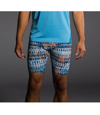 Onzie Hot Yoga Mens Fitted Shorts 508 Techno