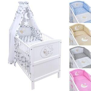 babybett kinderbett juniorbett mond 140x70 wei bettw sche bettset komplett ebay. Black Bedroom Furniture Sets. Home Design Ideas