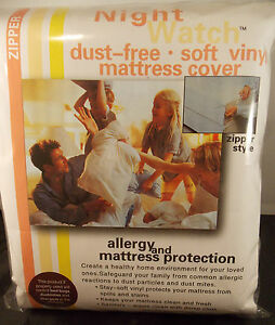 "PLASTIC MATTRESS COVER PROTECTOR SOFT VINYL--FULL 9"" HEIGHT---BED BUG-HAS ZIPPER"