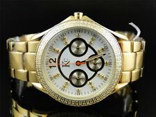 Ladies Womens Techno Com KC 36mm Big Face Diamond Watch Joe Rodeo Jojo Aqua