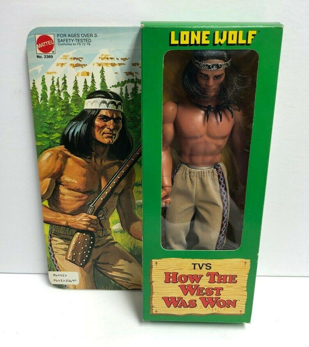 1978 Mattel cómo Occidente estaba ganó indio Lobo Solitario Figura De Acción Caja Hermosa