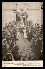 cartolina SASSO CASTALDA processione di s.rocco (presa avanti la sua chiesa)1911