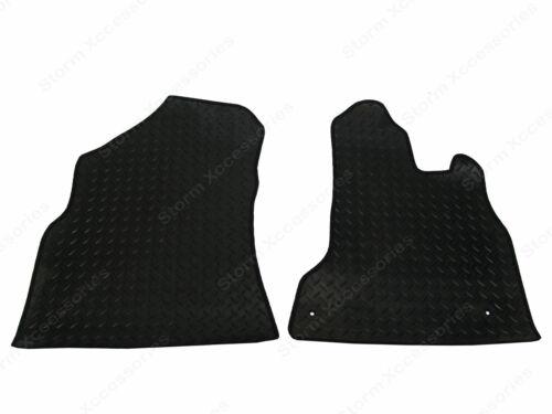 Peugeot Partner 08 on Tailored Fit Rubber Floor Mats front Set 2 pcs in BLACK