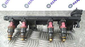 RENAULT-CLIO-II-PH1-1998-2001-1-2-8-V-RAIL-Iniezione-di-Carburante-iniettori-7700870914