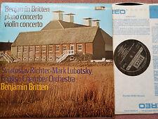 SXL 6512 BRITTEN Piano Concerto, Violin Concerto RICHTER LUBOTSKY ECO