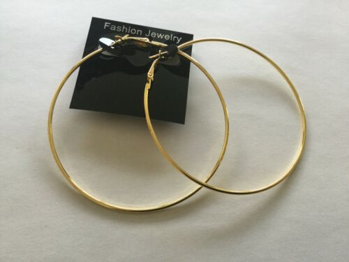 12cm//10cm//8cm//6cm Gran Aro Pendientes de plata u oro fino con diferentes tamaño
