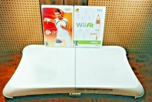 Nintendo Wii Fit Bundle Lot With Balance Board and Wii Active