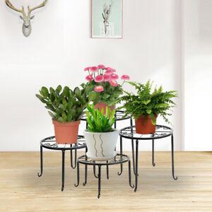 4pcs Metal Outdoor Indoor Pot Plant Stand Garden Decor Flower Rack ...
