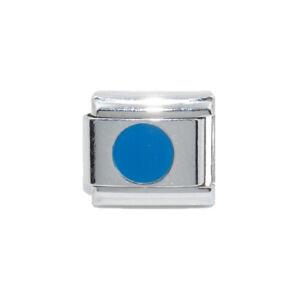 Fits 9mm Nomination Bracelet Blue Alphabet Letter choice of A-Z Italian Charm