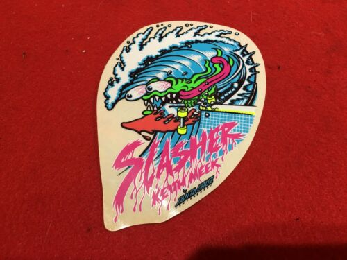 NOS VINTAGE 1986 SANTA CRUZ KEITH MEEK SLASHER SKATEBOARD STICKER DECAL