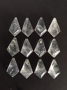 Natural Rock Crystal Quartz Chandelier Pendants Prisms Kite Diamond - Quartz chandelier crystals