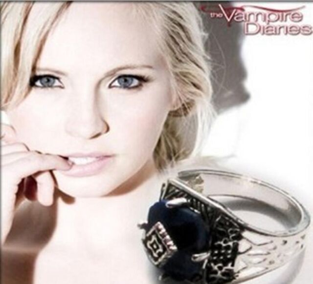 Fashion Vampire Diaries Caroline's Vintage Blue Lapis Wedding Engagement Ring