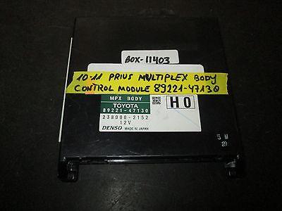 10 11 Toyota Prius Multiplex Body Control Module 89221-47130