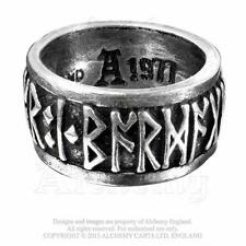 Viking Runeband pewter ring. Alchemy Gothic, Celtic, Viking, Norse :Size T: