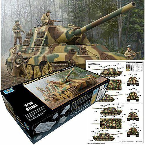 German Sd. Kfz. 186 hunting Tiger  Jagd Sdkfz - Trumpeter 00923 - ESCALA 1 16