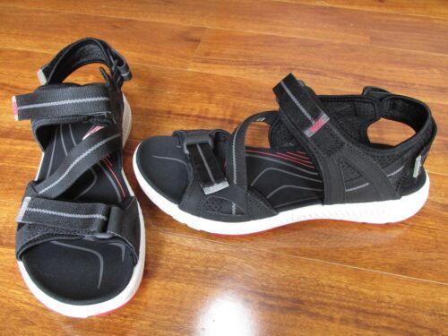 NEW ECCO Terra 3S Athletic Sport Sandals WOMENS 40 9-9.5 US Black//Grey $119.99