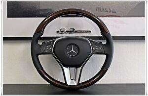 1x-Original-Mercedes-Volante-De-Madera-Nogal-BRILLO-W212-W218-W204-GLK-X204