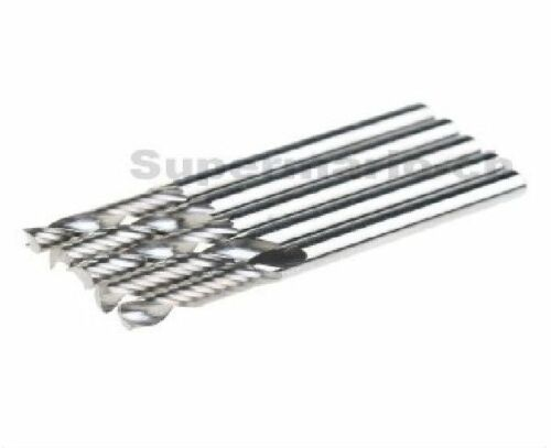 """22mm 5x 1//8/"""" Carbide High Quality CNC Router Bits Single One Flute Tools 3.175"""