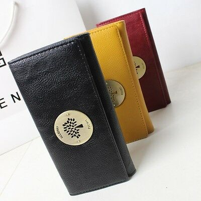 2016 Vintage Tree Clutch Checkbook Change Coin Bag Women Purse Handbag Wallet