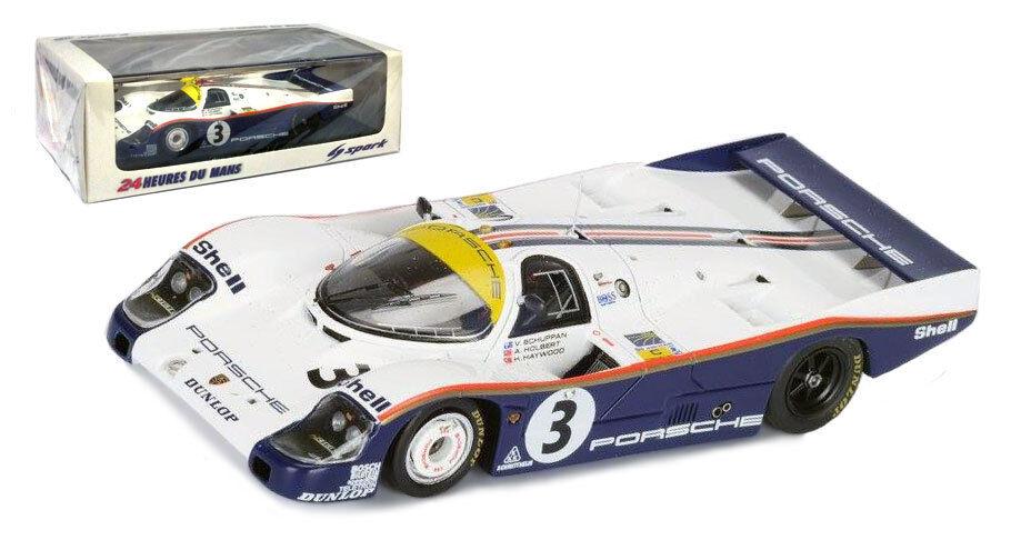 Spark 43LM83 Porsche 956 Le Mans Winner 1983 - Holbert Haywood Schuppan 1 43