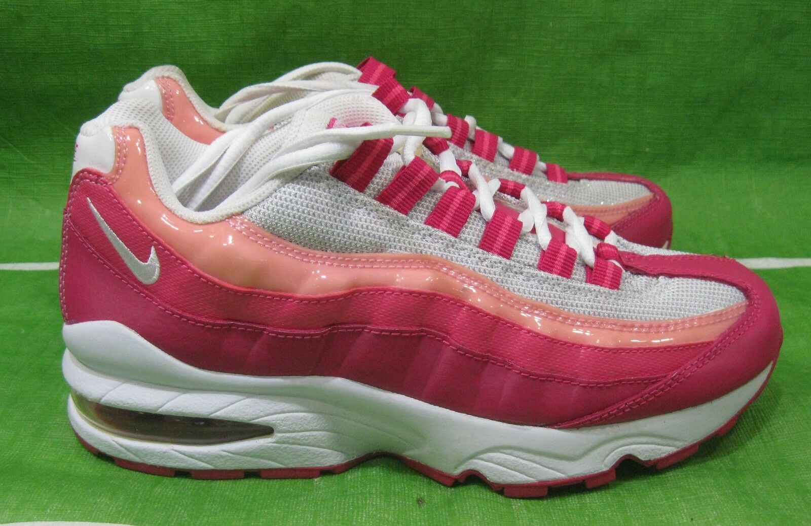 new Nike Air Max '95 Le (Gs) Girls Running Shoes 310830-166 White/Cherry Size 5Y