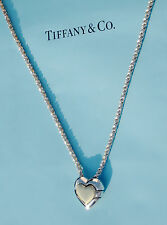 Tiffany & Co Sterling Silver 18Ct 18K Gold Heart Jigsaw Puzzle 18 Inch Necklace