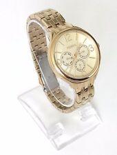 Fossil Damen Uhr gold Edelstahl Datum Wochentag 24 h BQ3128