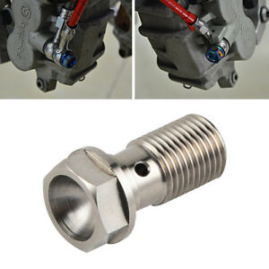 M10-x-1-0-Titanium-Single-Banjo-Bolt-Screw-For-Ducati-748-848-916-998-1198-1299
