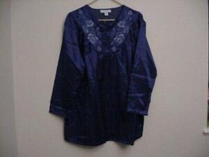 Only Necessities Women/'s Pants Size Medium 14//16 Black Cotton Elastic Waist