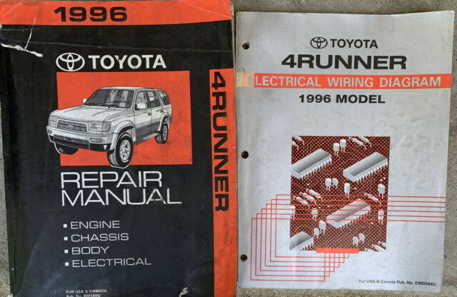 1996 Toyota 4runner Service    Shop    Repair Manual And Electrical Wiring Diagram