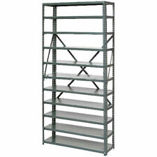 New Listingopen Style Steel Shelf With 11 Shelves 36wx18dx73h