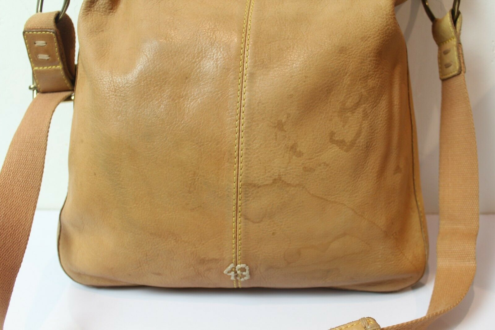 49 Square Miles Tan Leather Bag Hobo Large Bag - image 3