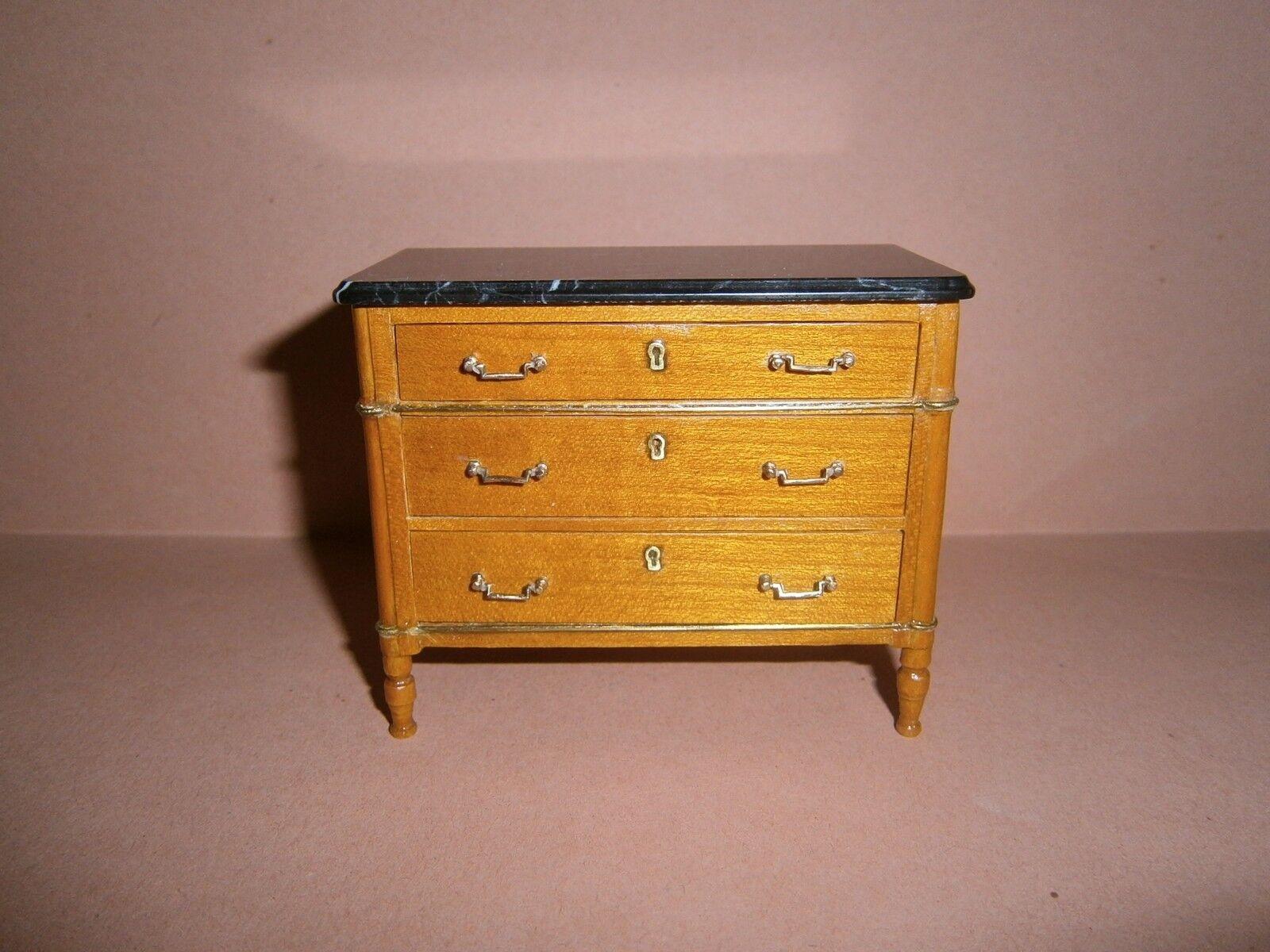 Miniature 1 12  dollshouse Herbillon French Commode Directoire XVIII Century sty