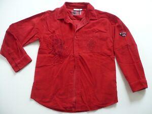 nuevo estilo y lujo muy baratas venta caliente más nuevo Detalles de Camisa Kiabi 12 Años 150 cm Niño Mangas Rojo Tercipelo