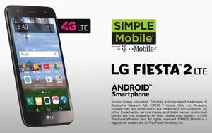 LG Fiesta 2 4G LTE Prepaid Smartphone 5.5