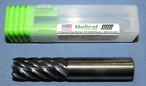 """1//2/"""" 4 FLUTE VARIABLE CARBIDE END MILL 1-5//8/"""" LOC .030 RADIUS TiALN COATED"""