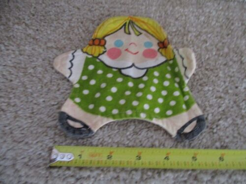 Vintage Fisher Price Toy Dressing Skills Lace 1970 Stuffins Family Hand Puppet