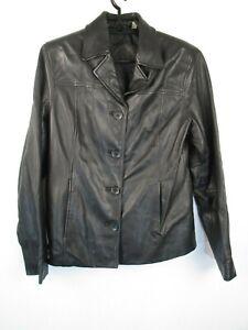 Preston-York-Genuine-Lamb-Skin-Soft-Leather-Jacket-Sz-XS-Black-Lined