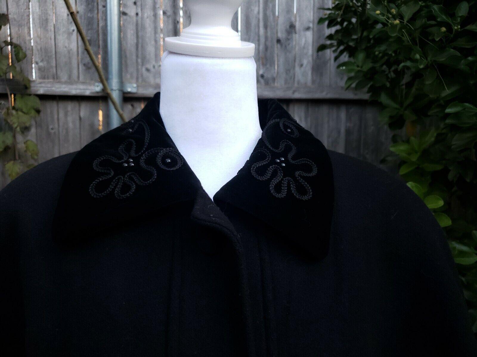Vtg Donnybrook Black Velvet Embroidery Edwardian … - image 2