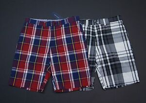 TOMMY-HILFIGER-Men-Plaid-Light-Weight-Casual-Shorts-NEW-NWT-69-50