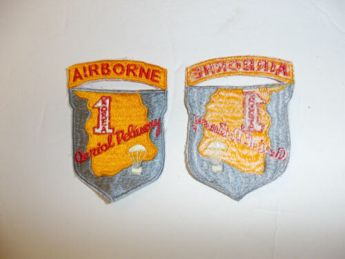 b1207 US Army Korea Airborne 1st Korea  Aerial Delivery Parachute patch R8E