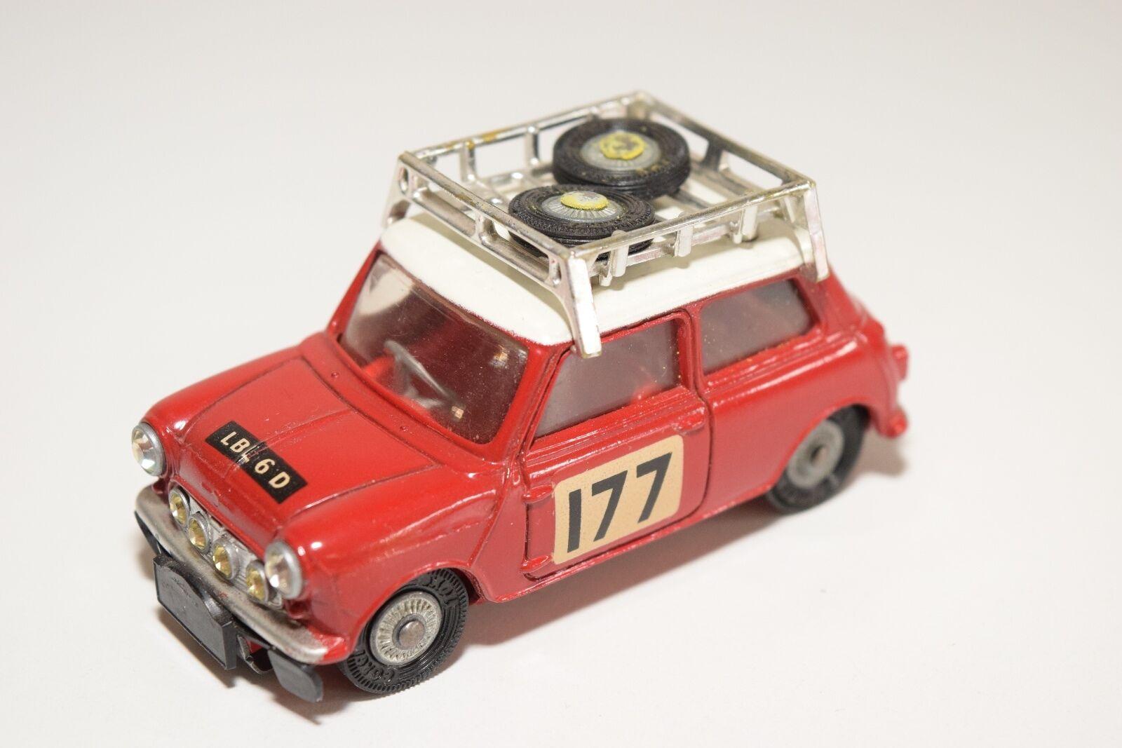 CORGI TOYS 339 BMC MINI COOPER S MONTE CARLO RALLY 1967 MINT CONDITION RARE