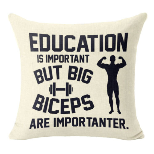 18/'/' Funny Intersting Letters Linen Pillow Case Standard Pillow Cover Home Decor