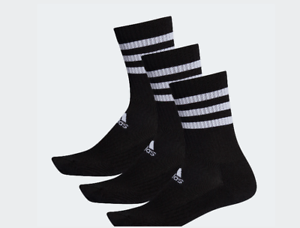 Details about Tights Adidas 3S Es. CRW3P DZ9347 Socks Chaussettes Cotton Polyester Black