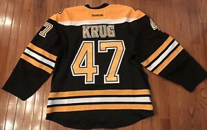 low priced e730c 74de6 Details about Boston Bruins Game Worn Jersey 2013-14, Torey Krug