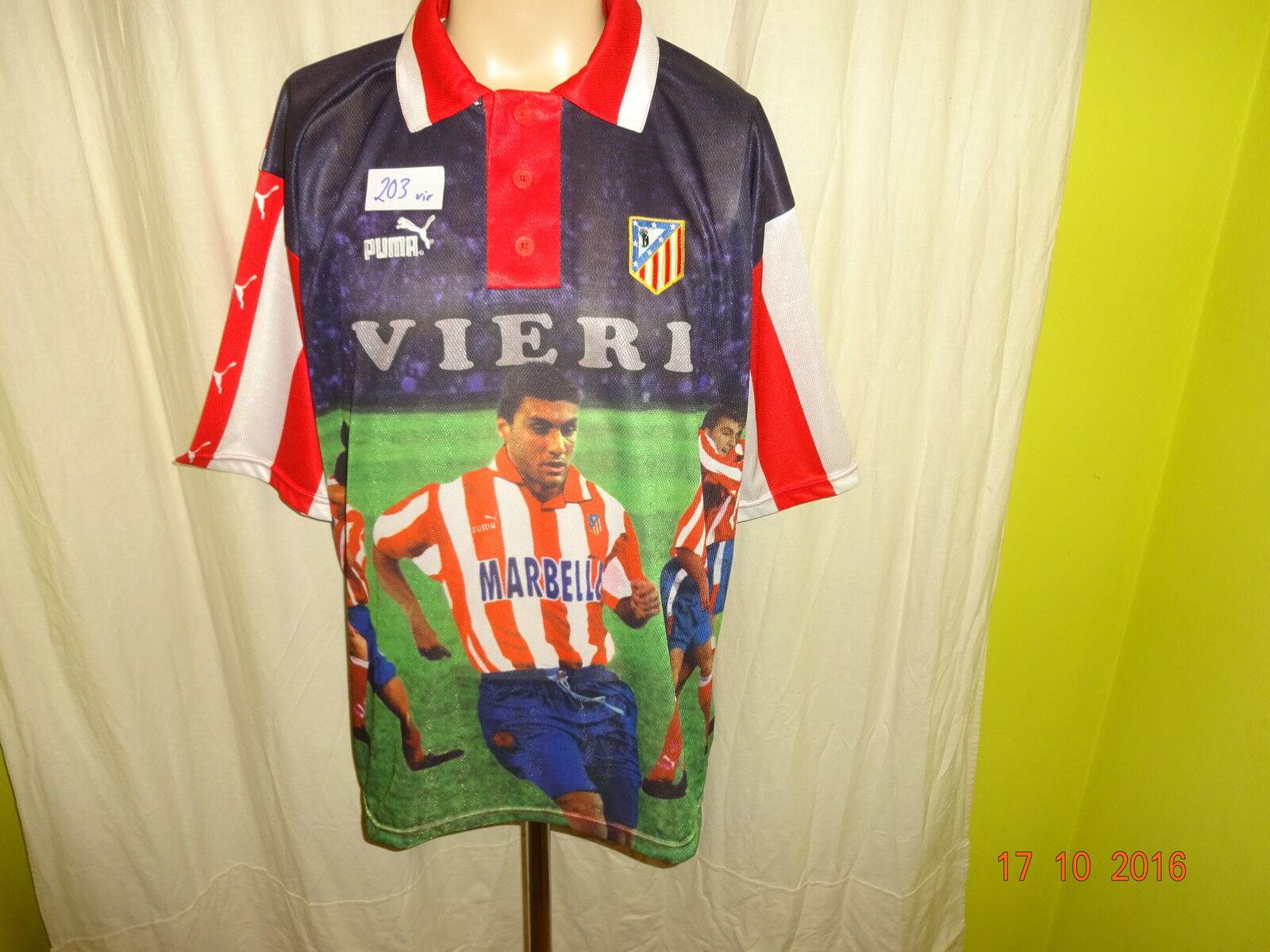 Atletico Madrid Original Puma Spieler Fan Fan Fan Trikot 1998 99 + Nr.9 Vieri Gr.XL Neu 159db3