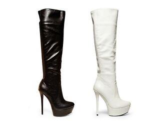 Steve madden animall knee high fashion high heel boots black or white