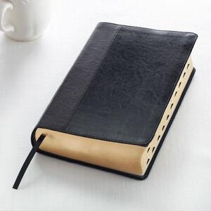 Procura-Santa-Biblia-King-James-Version-Negro-Large-Print-Edition-nuevo-de-indice-de-pulgar