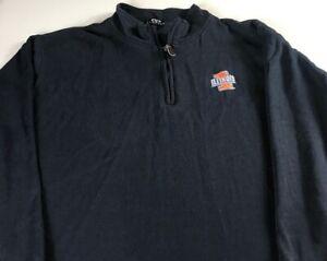Illinois-Sweater-Mens-XL-2XL-Fighting-Illini-Long-Sleeve-1-4-Zip-Student-Alumni